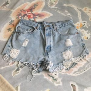 Levi High-Waisted Jean Shorts
